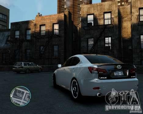 Lexus IS350 2006 v.1.0 для GTA 4 вид слева