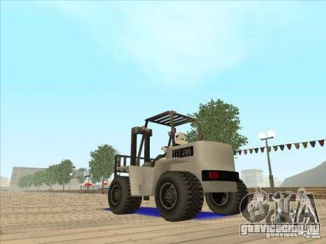 Forklift extreem v2 для GTA San Andreas вид сзади слева