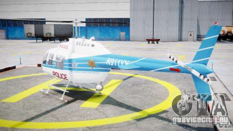 Bell 206 B - Chicago Police Helicopter для GTA 4 вид сзади слева