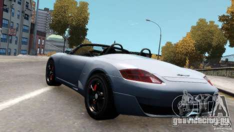 RUF RK Spyder 2006 [EPM] для GTA 4 вид сзади