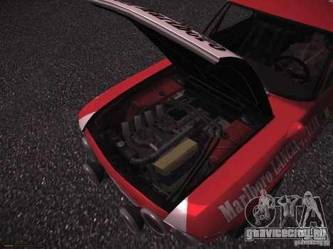 Lancia Fulvia Rally Marlboro для GTA San Andreas вид сверху