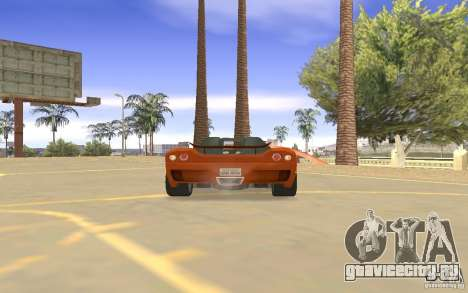 Автомобиль Veloche для GTA San Andreas вид изнутри