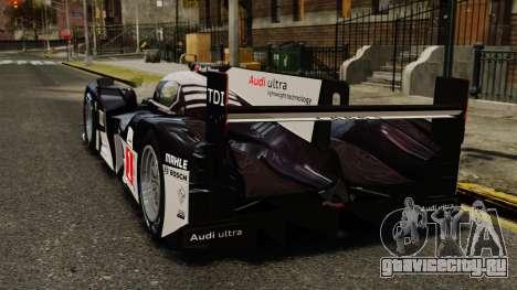 Audi R18 TDI v2.0 для GTA 4 вид сзади слева