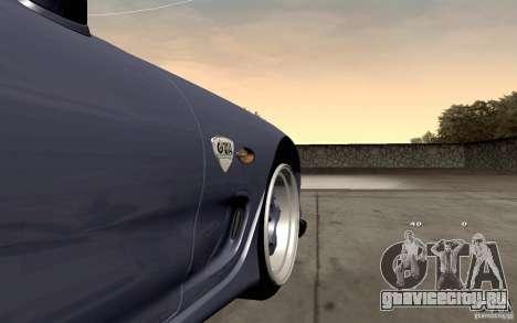 Mazda RX-7 Hellalush для GTA San Andreas вид изнутри