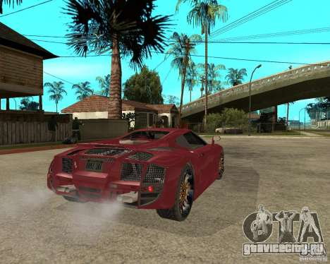 B-Engineering Edonis для GTA San Andreas вид сзади слева