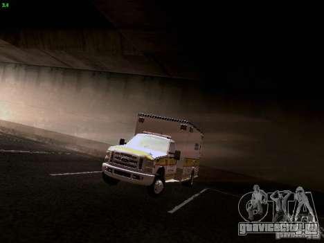 Ford F-350 Ambulance для GTA San Andreas вид сзади