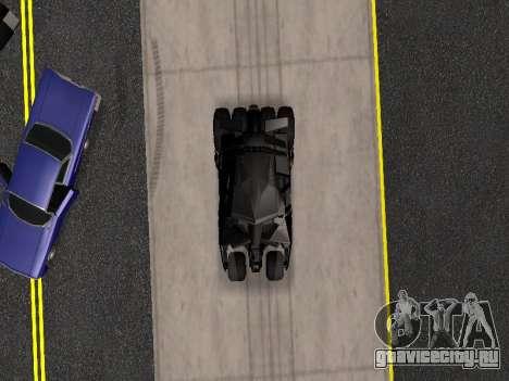 Tumbler Batmobile 2.0 для GTA San Andreas вид сбоку