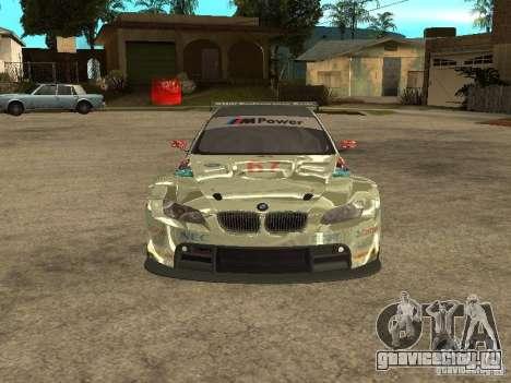 BMW M3 GT2 для GTA San Andreas вид изнутри