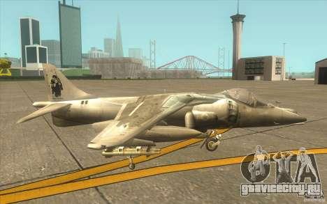 Harrier GR7 для GTA San Andreas вид сзади слева