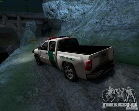 Chevrolet Silverado Police для GTA San Andreas вид сзади