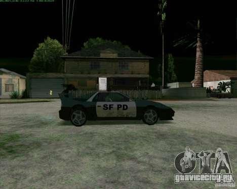 Supergt - Police S для GTA San Andreas вид сзади слева