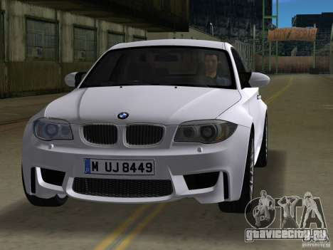BMW 1M Coupe RHD для GTA Vice City вид слева