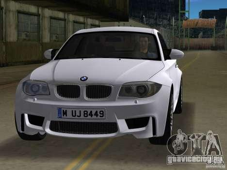 BMW 1M Coupe RHD для GTA Vice City вид слева