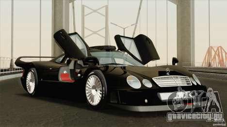 Mercedes-Benz CLK GTR Race Road Version Stock для GTA San Andreas вид сбоку