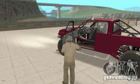 Dodge Ram Prerunner для GTA San Andreas вид сзади