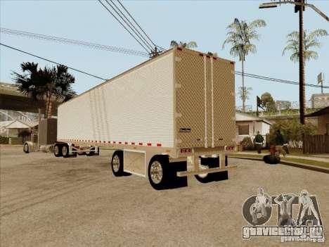 Прицеп к Peterbilt 379 Custom для GTA San Andreas вид сзади