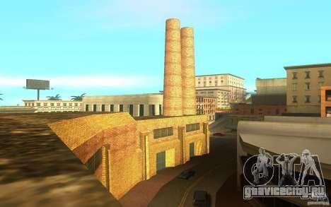 Новые текстуры завода в Лос Сантосе для GTA San Andreas четвёртый скриншот