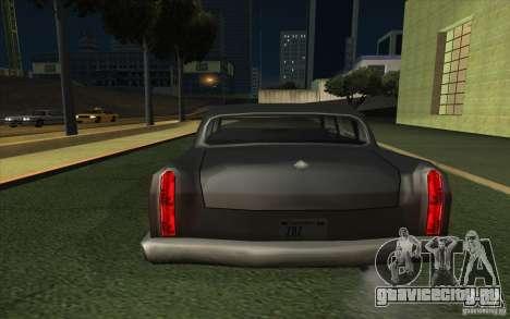Civilian Cabbie для GTA San Andreas вид сзади слева