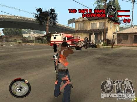 Hud by Dam1k для GTA San Andreas второй скриншот