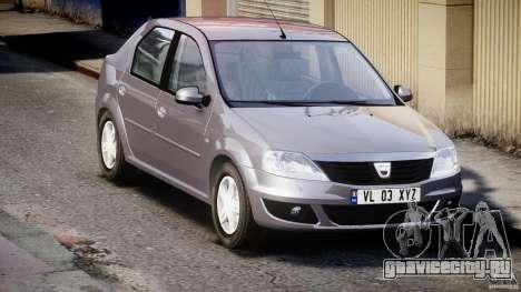 Dacia Logan v1.0 для GTA 4 вид изнутри