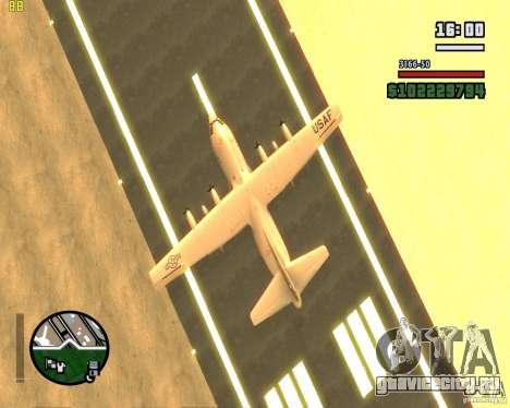 C-130 hercules для GTA San Andreas вид изнутри