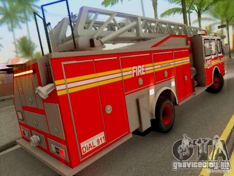 E-One FDNY Ladder 291 для GTA San Andreas вид сзади