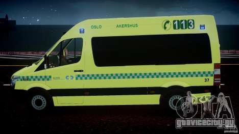 Mercedes-Benz Sprinter PK731 Ambulance [ELS] для GTA 4 салон