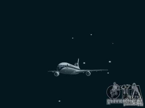 L1011 Tristar Delta Airlines для GTA San Andreas вид сзади