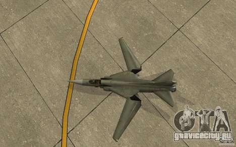 МиГ-23 Flogger для GTA San Andreas вид сзади