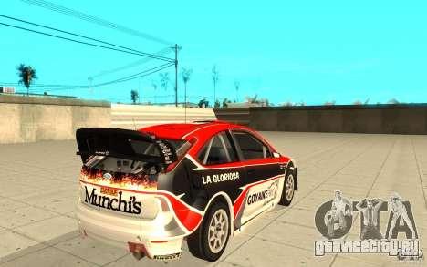 Ford Focus RS WRC 08 для GTA San Andreas салон