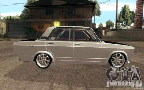 ВАЗ-2107 Lada Drift для GTA San Andreas вид изнутри