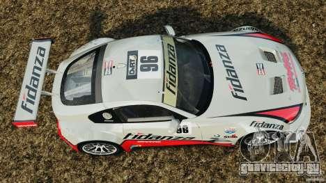 BMW Z4 M Coupe Motorsport для GTA 4 вид справа
