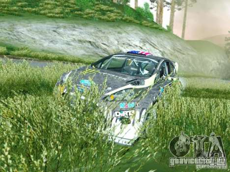 Ford Fiesta Ken Block Dirt 3 для GTA San Andreas вид сзади