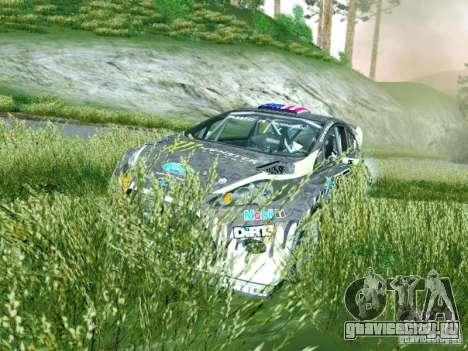 Ford Fiesta Ken Block Dirt 3 для GTA San Andreas вид сзади