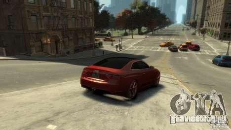 AUDI S5 для GTA 4 вид сзади слева