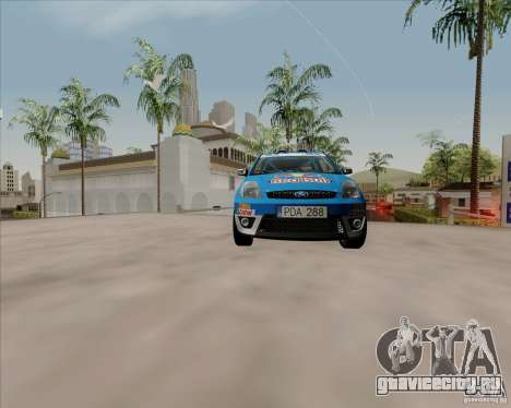 Ford Fiesta ST Rally для GTA San Andreas вид сзади
