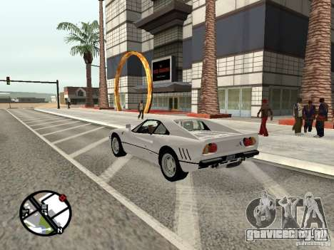 Ferrari 288 Gto для GTA San Andreas вид слева