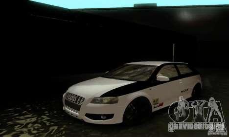 Audi S3 для GTA San Andreas салон