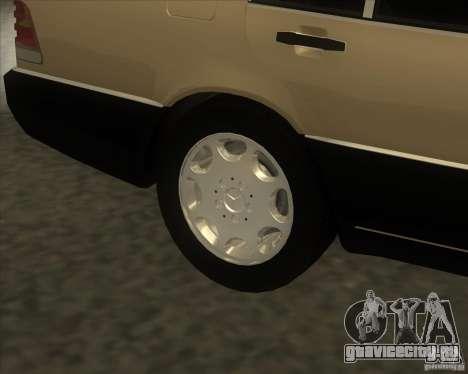 Mercedes Benz 400 SE W140 (Wheels style 2) для GTA San Andreas вид справа