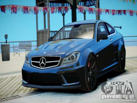 Mercedes-Benz C63 AMG Black Series 2012 v1.0 для GTA 4 вид слева