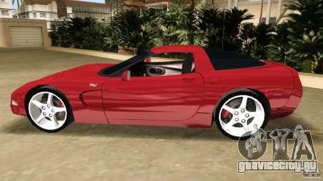 Chevrolet Corvette Z05 для GTA Vice City вид изнутри