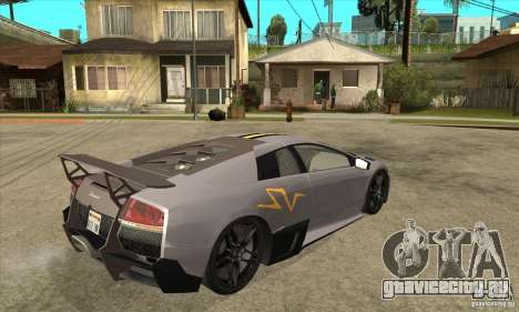 Lamborghini Murcielago LP 670 SV для GTA San Andreas вид справа