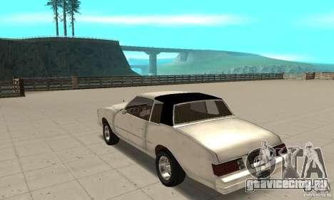 Chevrolet Monte Carlo 1976 для GTA San Andreas вид сзади слева