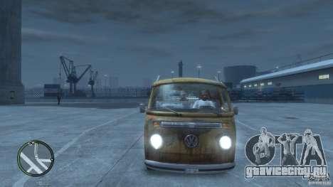 VW Transporter T2 для GTA 4 вид изнутри