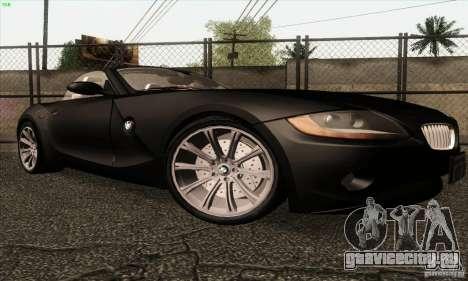 BMW Z4 для GTA San Andreas вид сзади