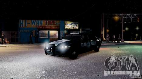 POLICIA FEDERAL MEXICO DODGE CHARGER ELS для GTA 4 салон