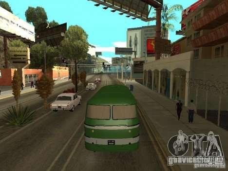 ЛАЗ 697М для GTA San Andreas вид сзади