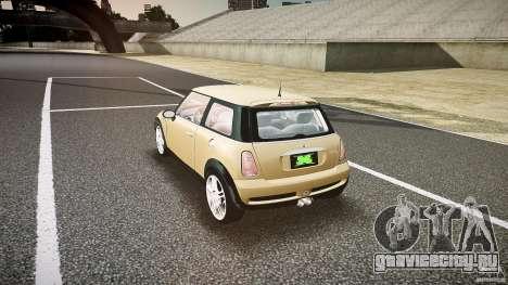 Mini Cooper S для GTA 4 вид сзади слева
