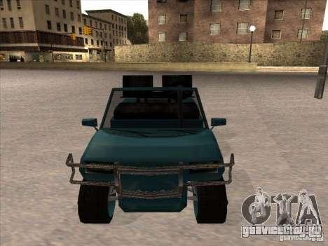 Small Cabrio для GTA San Andreas вид сзади слева