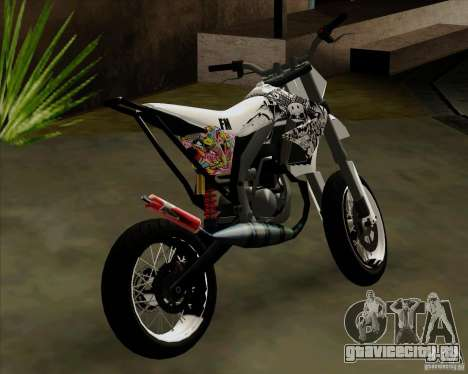 Honda 50 Tuned Stunt для GTA San Andreas вид сзади слева